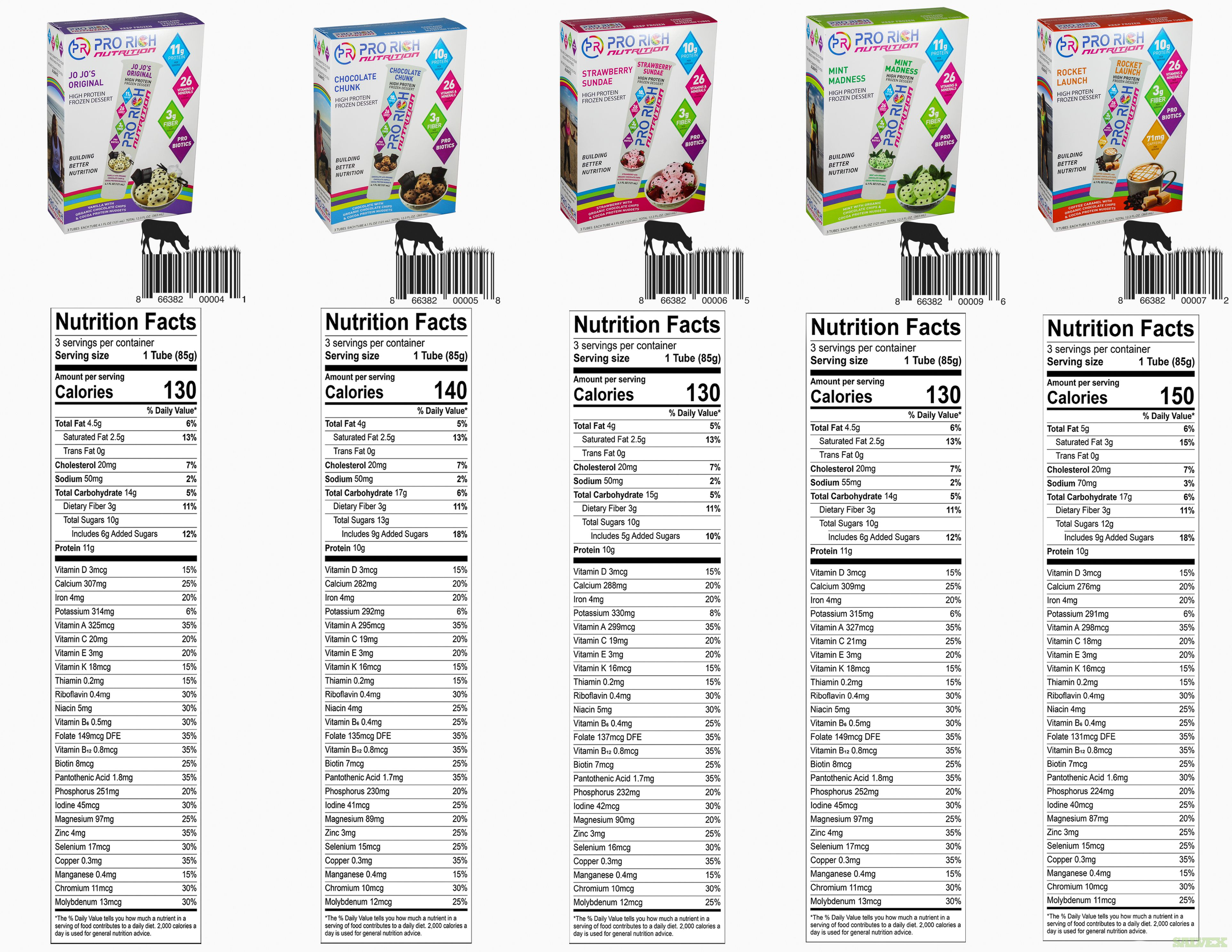 High Protein Ice Cream  (1350 cases)