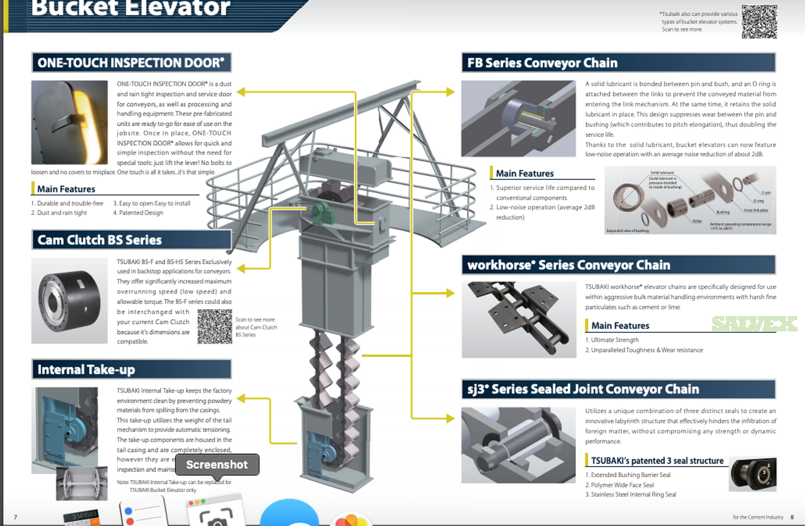 Chain Bucket Elevator - for Cement Industry (1 Unit)