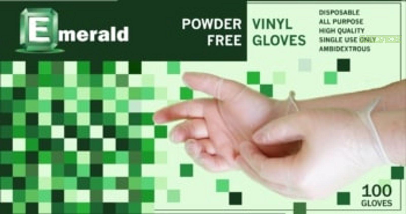 Emerald Shannon Powder-Free Vinyl Gloves (1,584 Cases / 14 Pallets)