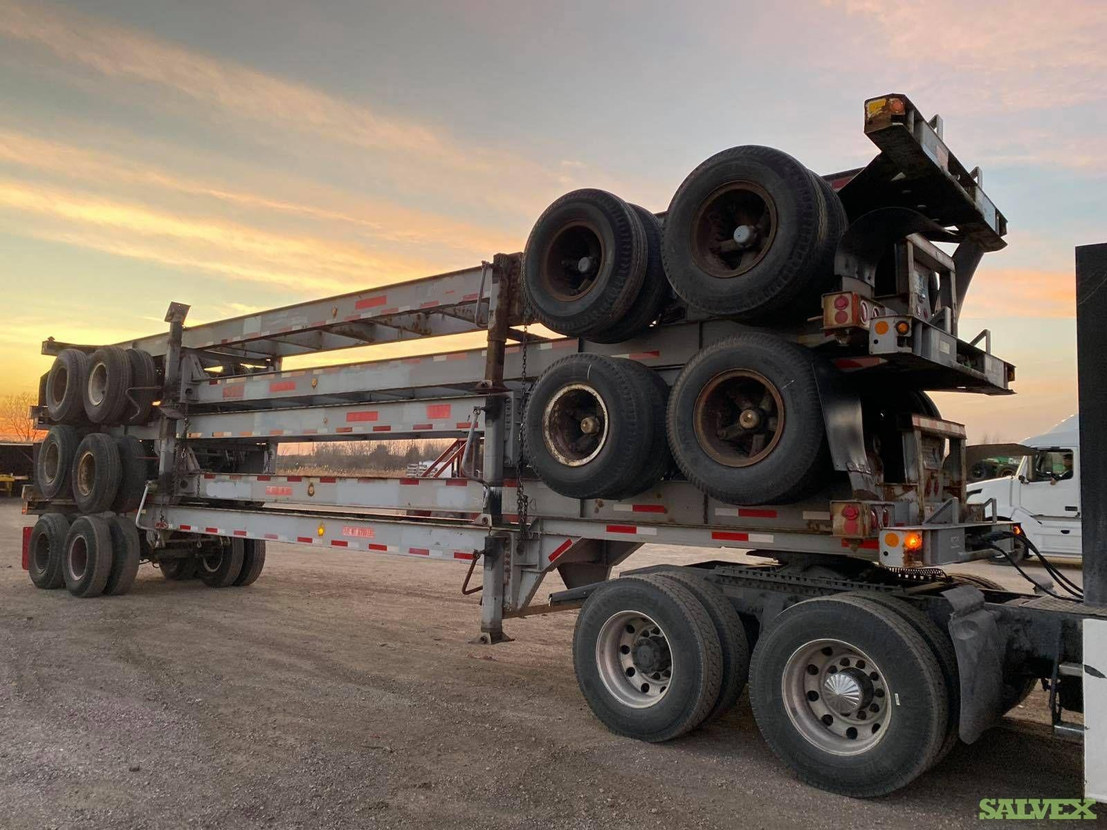 20-Ft, 40-Ft & 45-Ft Tandem and Tri Axle Chassis (4 Units)