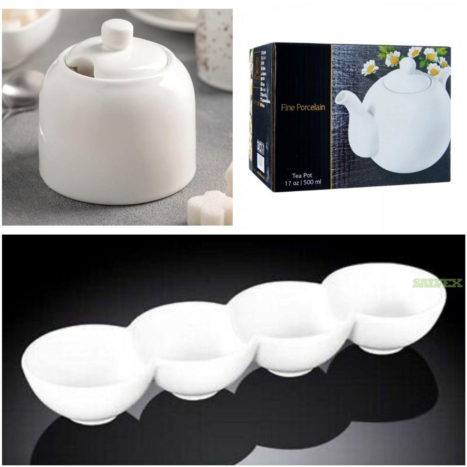 Fine White Porcelain Dinnerware & Serveware (12 Pallets) in Pennsylvania