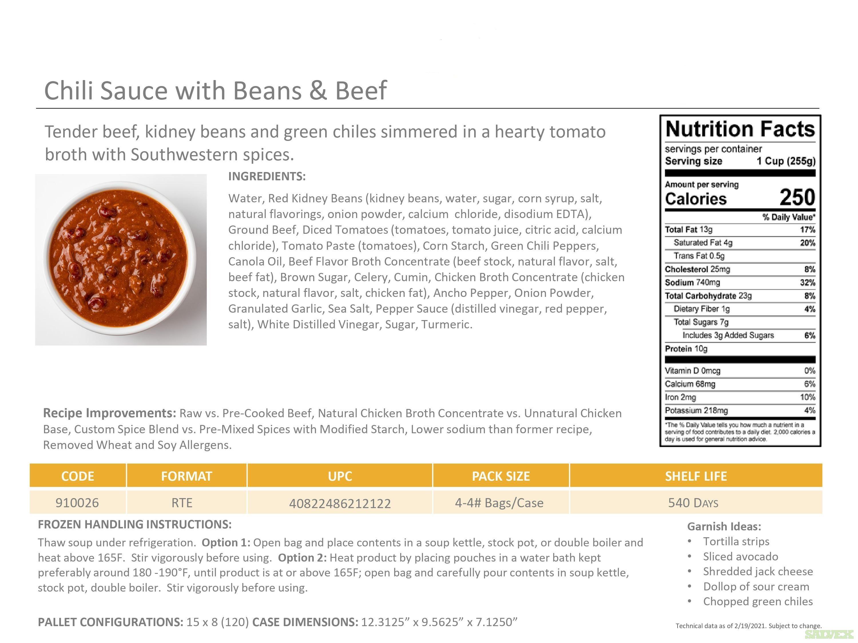 Frozen Soups: CS Creamy Tomato Basil Bisque, MM Split Pea W/ Ham Soup, Fagioli, etc. (4/4lbs 16lb case)