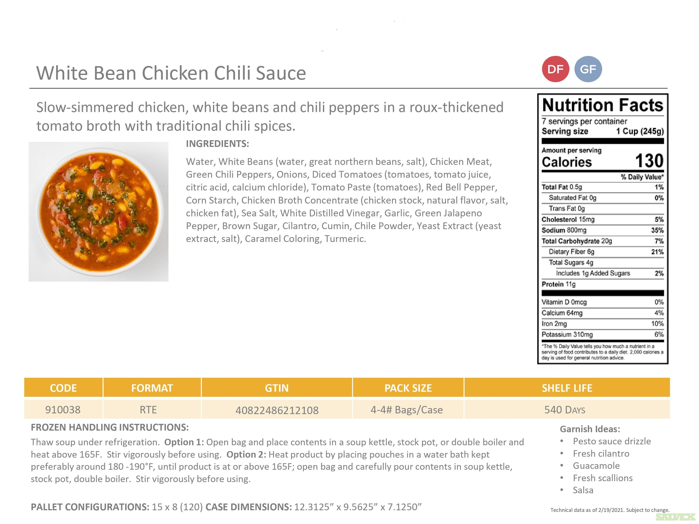 Frozen Soups: CS Creamy Tomato Basil Bisque, SS Roasted Potato Indulgence, CS Beef Chili W/ Beans, etc. (4 Lb. Bags)