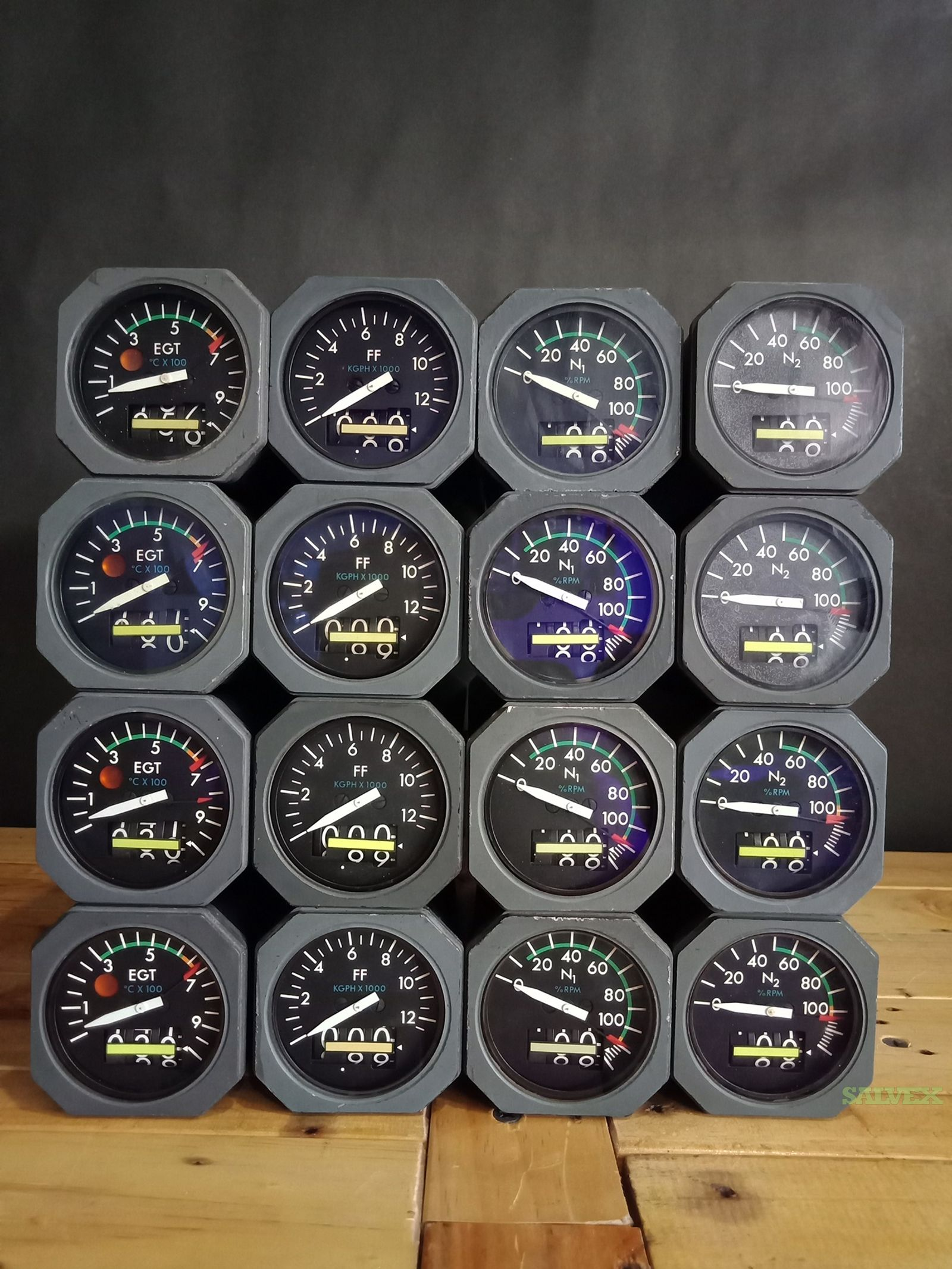 B747 Engine Indicators (16 units)