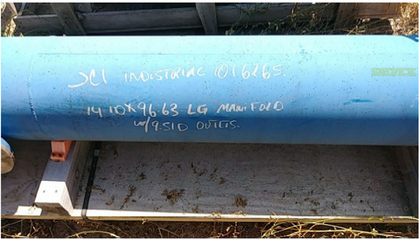 14 X 96-5/8 Long Pipe with 9 Outlets and Flanges