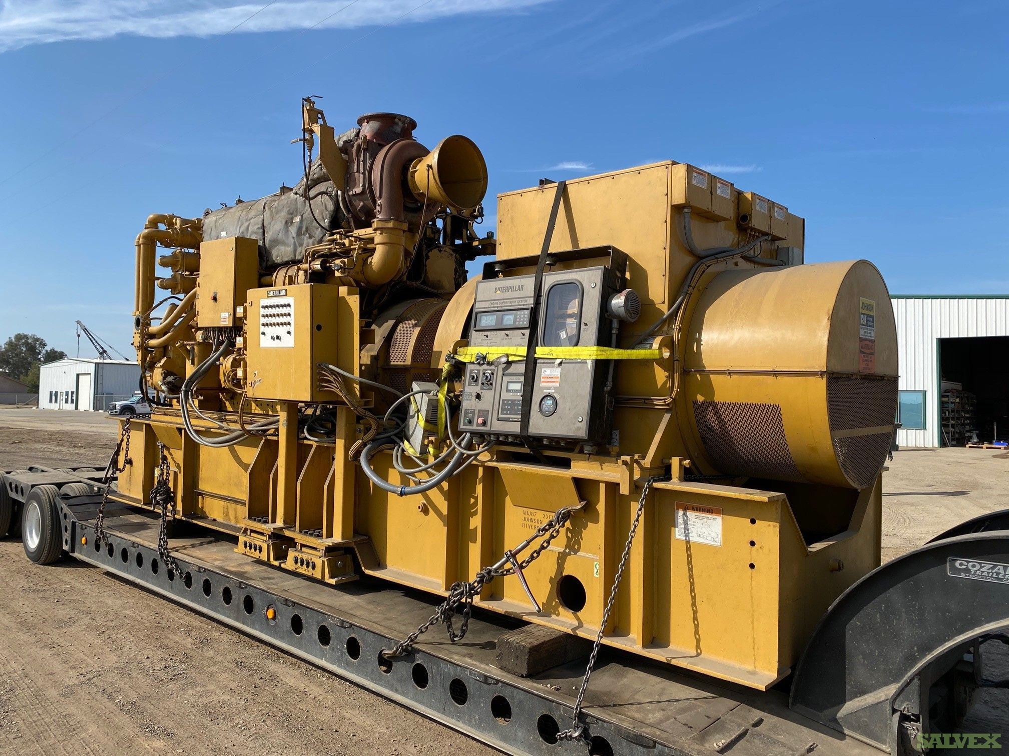 Natural Gas Cat Engine Generator Sets Model G3606TA/Kato 1.135 KW, 900 RPM 2400/ 4160 Volts 60 Hz
