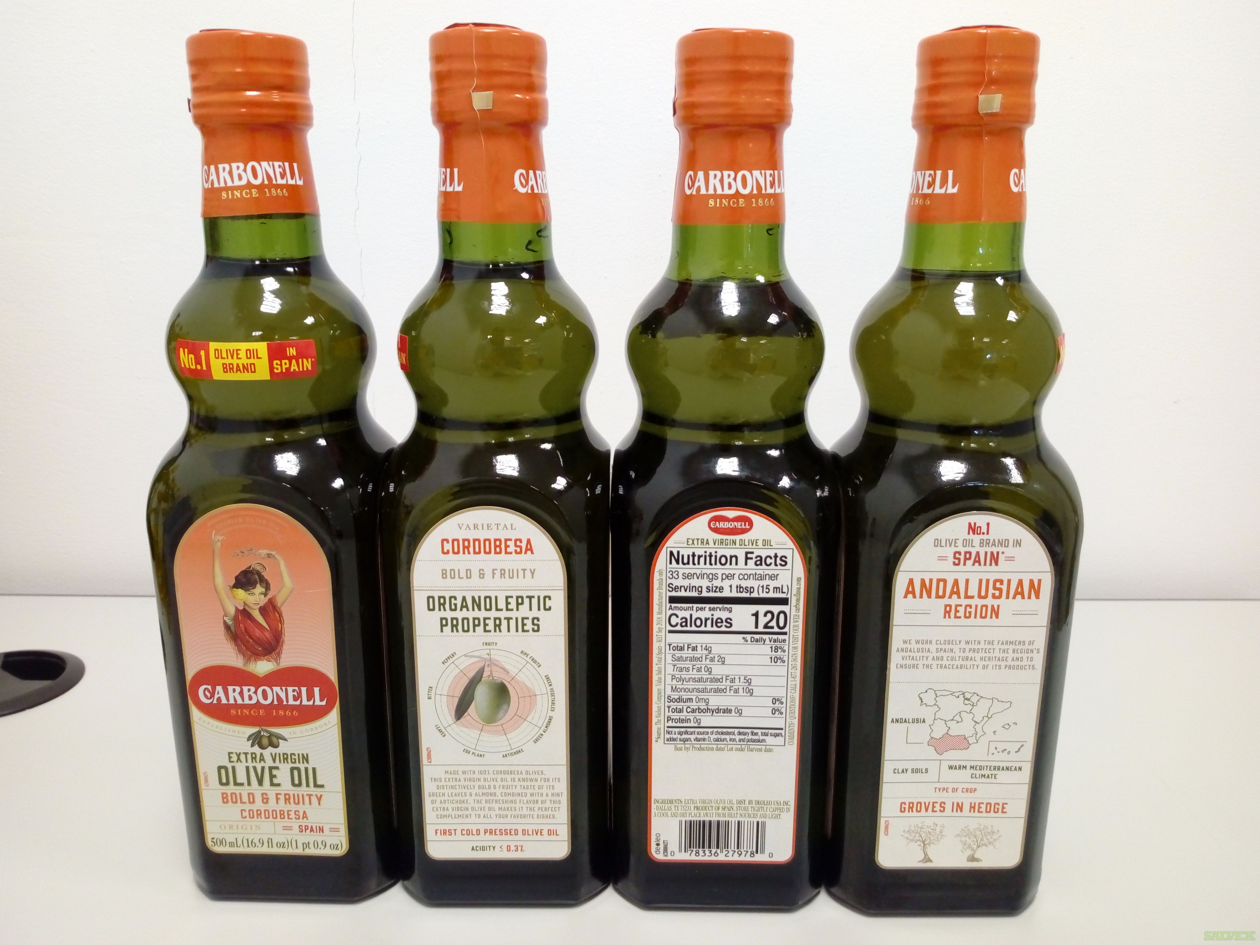 Bertolli, Carapelli and Carbonell Olive Oil