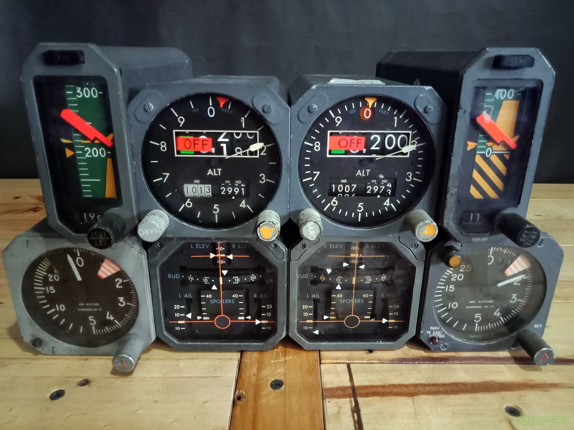 Boeing 747 Rad Alt, Servoed, Position Surface Indicators and More (8 Units)