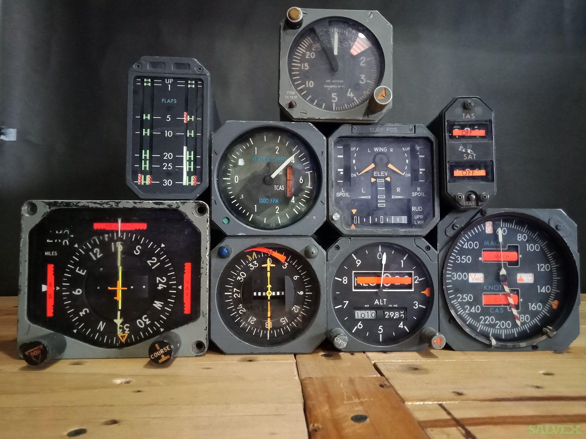 DC10 Altitude, Course, PDI Indicators and More (8 Units)