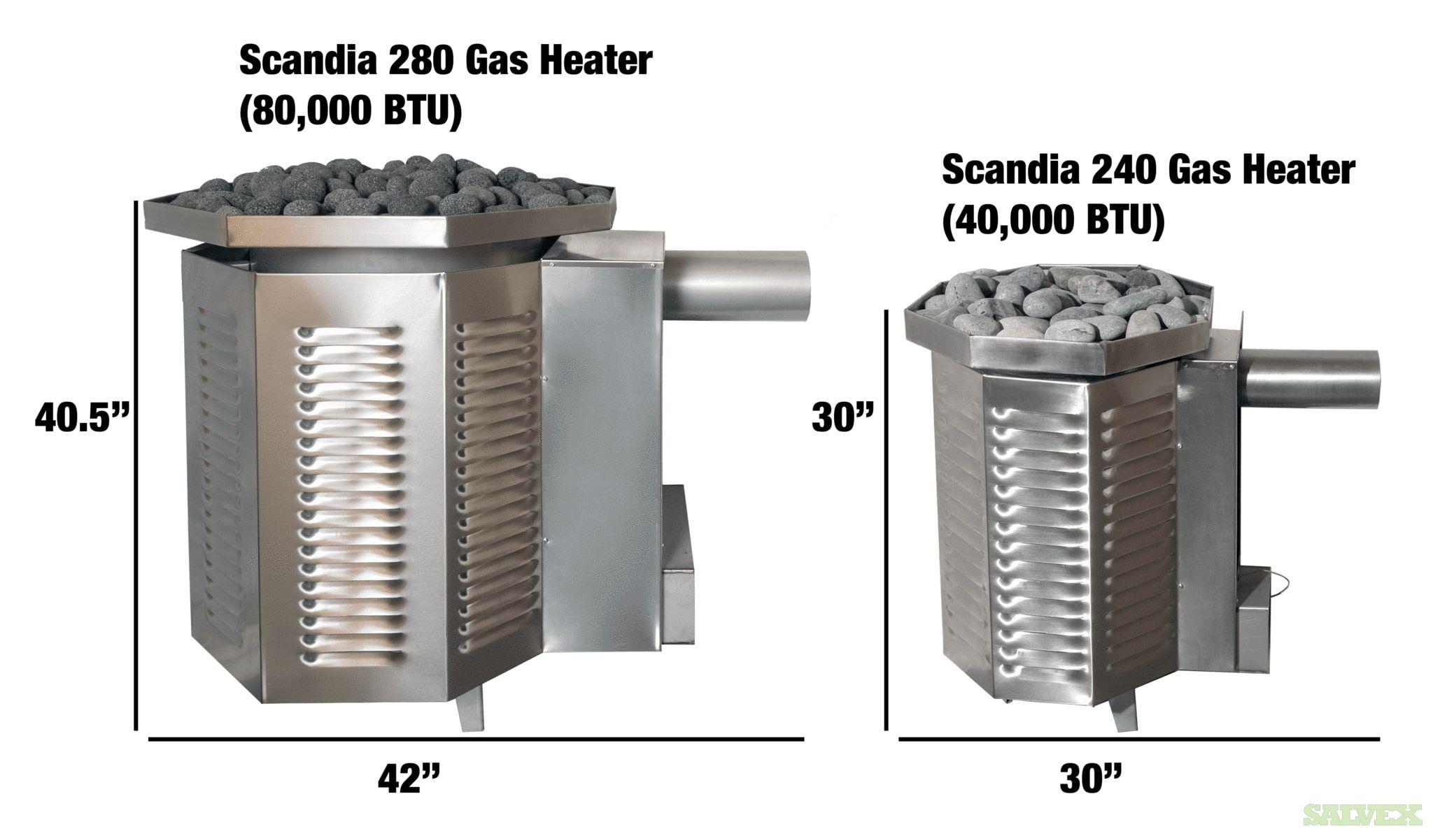 Scandia 80,000 BTU Gas Sauna Heaters (2 Units)
