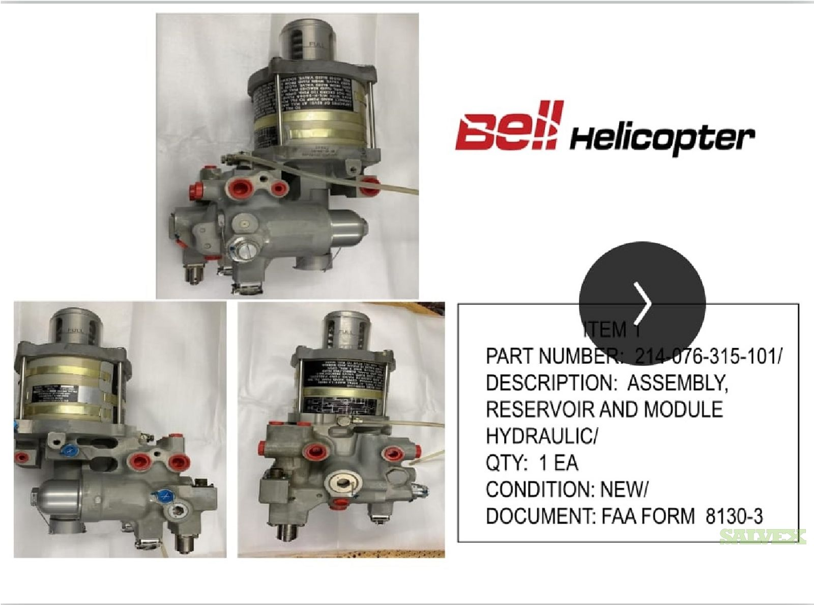 Assembly, Reservoir and Module Hydraulic (1 Unit)