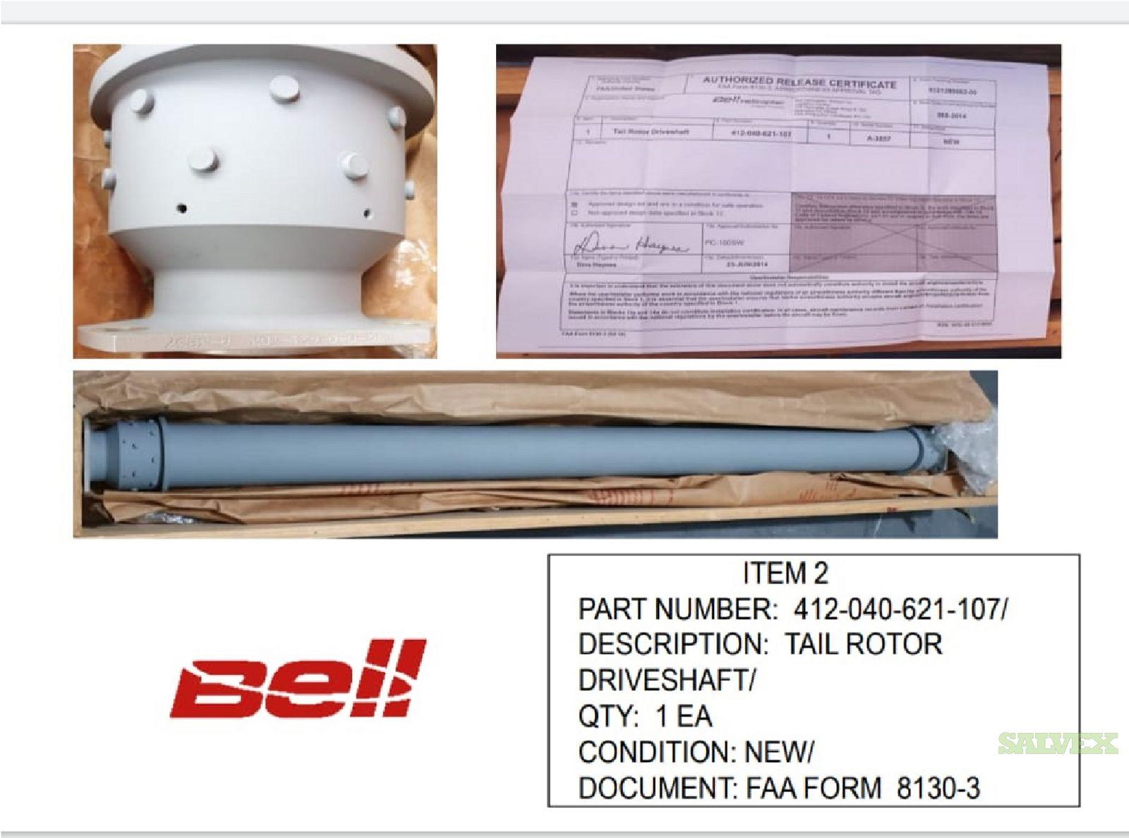 Tail Rotor Driveshaft  P/N: 412-040-621-107 (1 Unit)