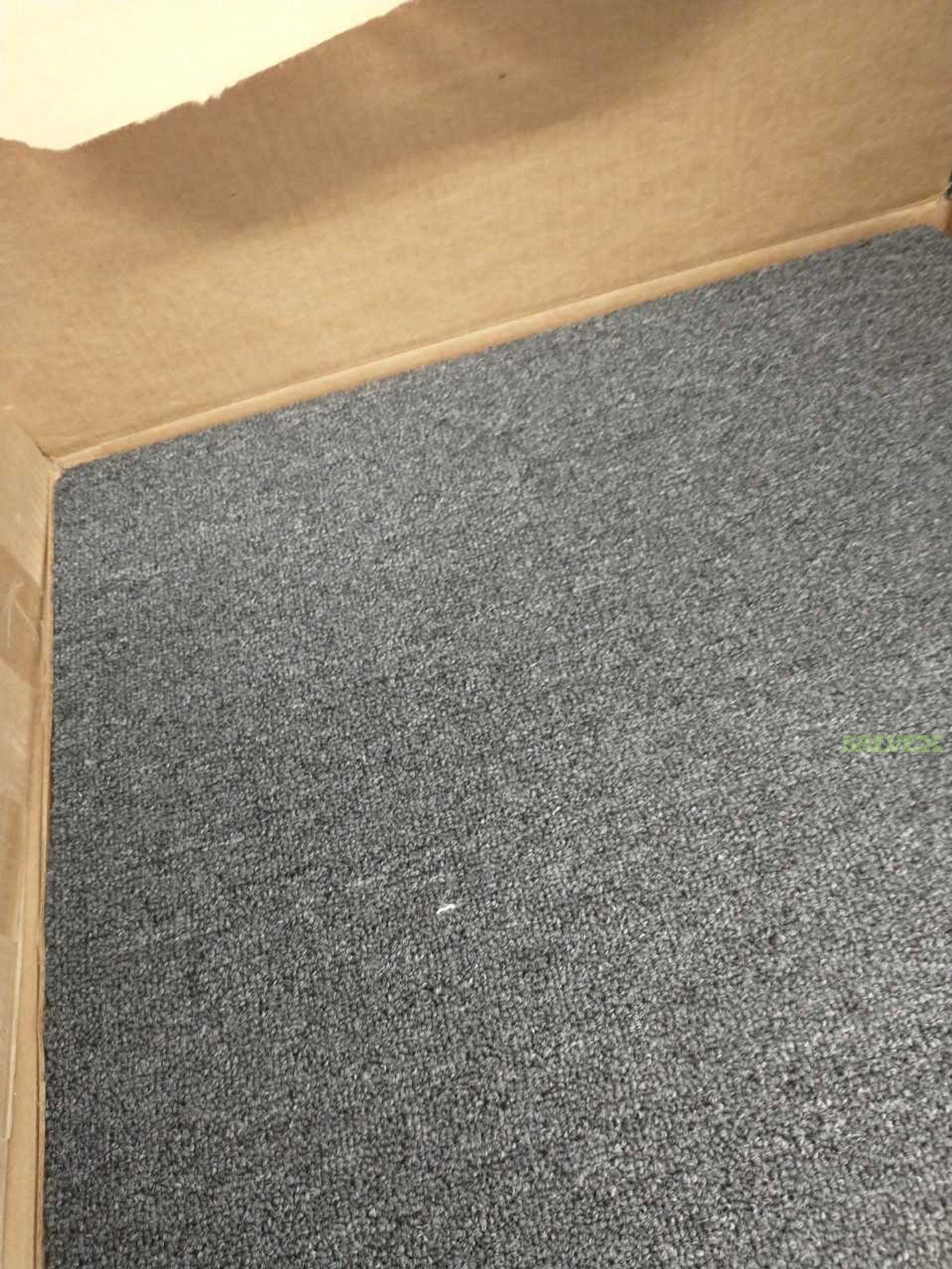 Carpet Tile - Color: Midnight  Tile size 23.5  x 23.5  Has Peel N Stick Backing
