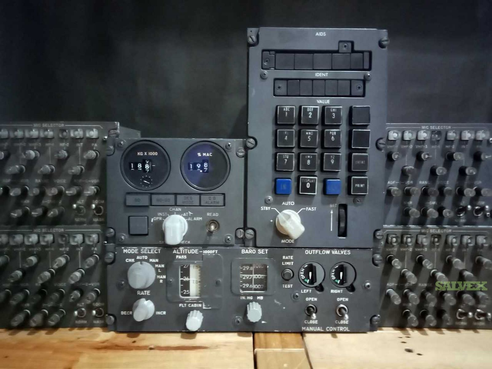 Control Panel, Audio Selector, Flight Entry Panels for B747 (7 Units)