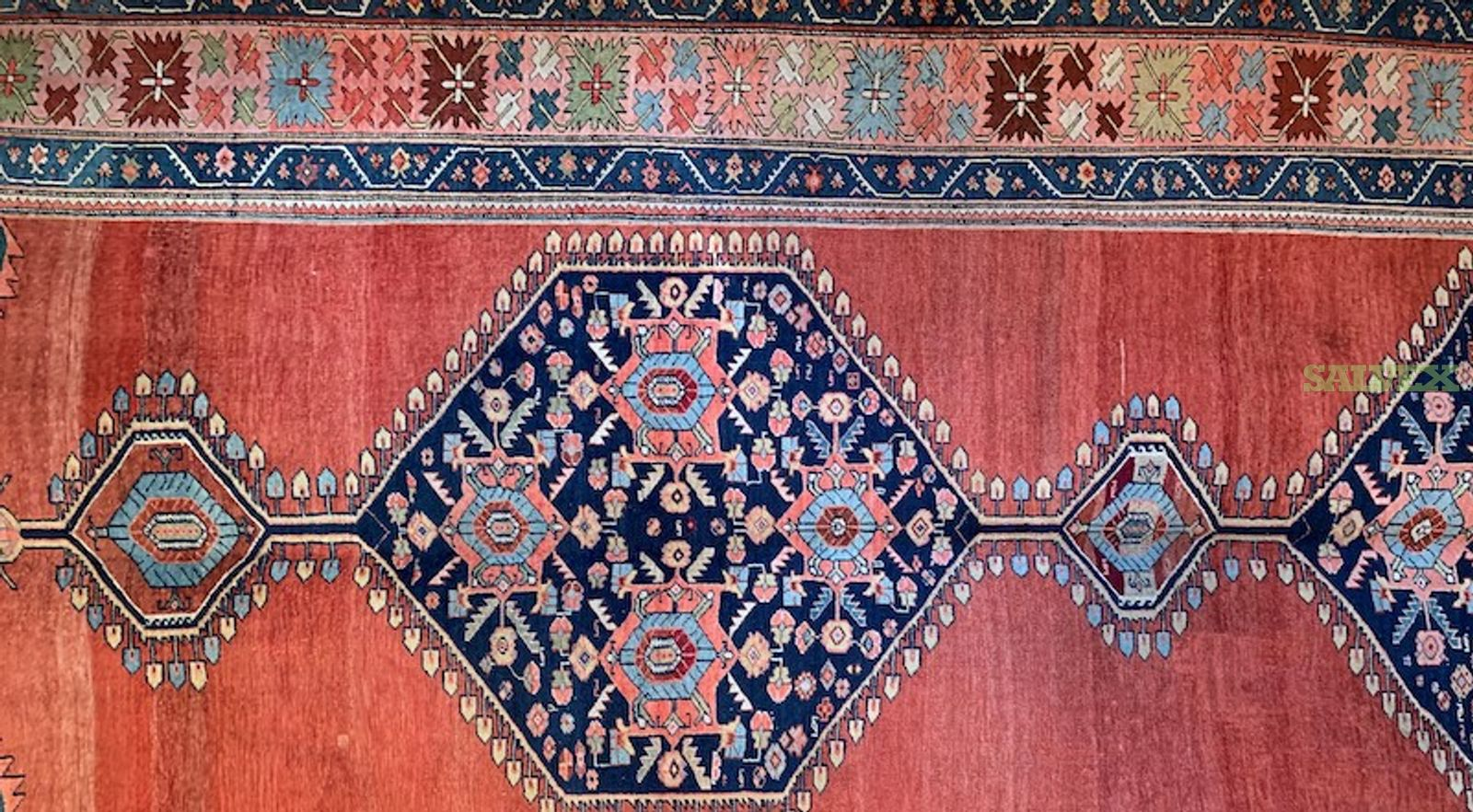 Antique Persian Bidjar, Persian Gabbeh Kashgoli and Fine Turkish Oshak Rugs (5 Units)