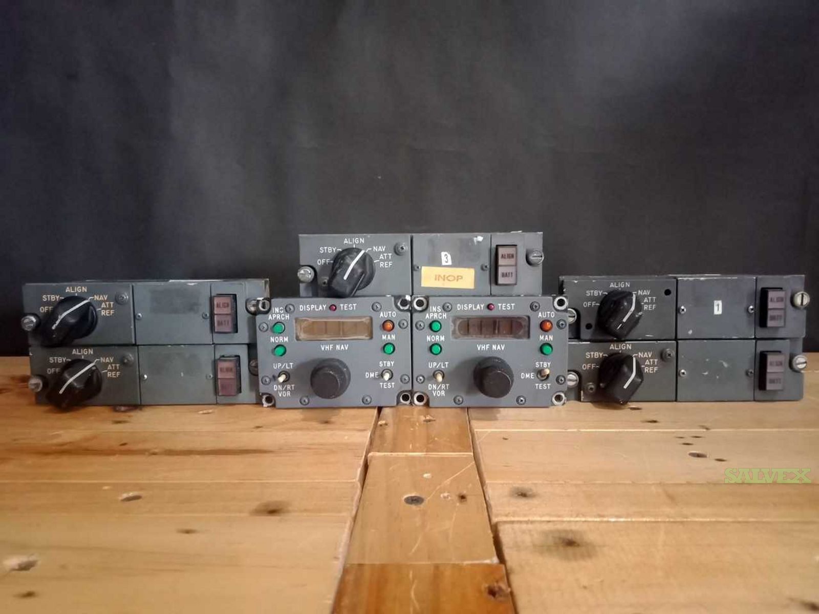 MSU and VHF Nav Control Panels - for Boeing 747 (7 Units)