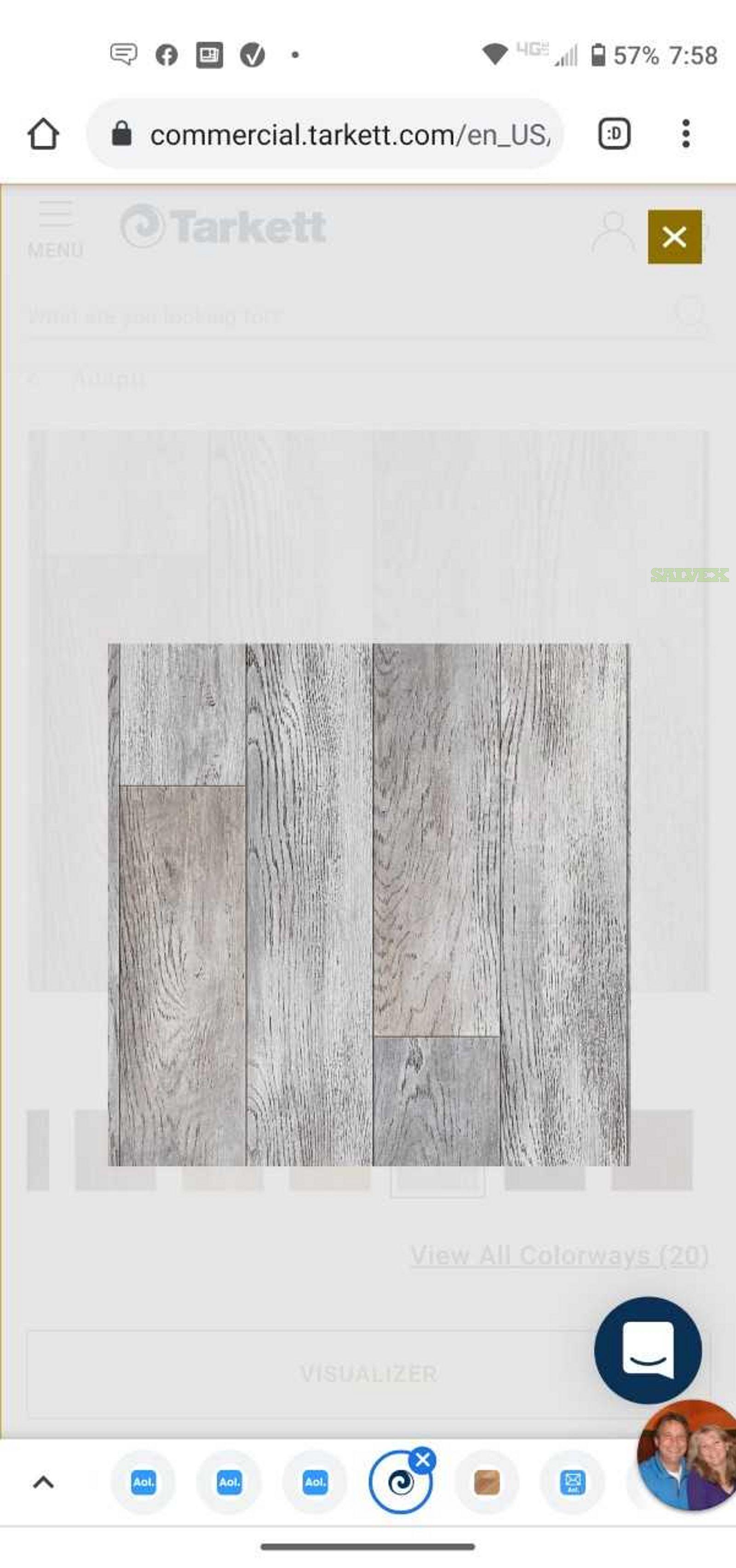 Tarkett Adapt SSP (Tandus Centiva) Color#2318 Whitewashed Oak (6,900 sq. ft.)