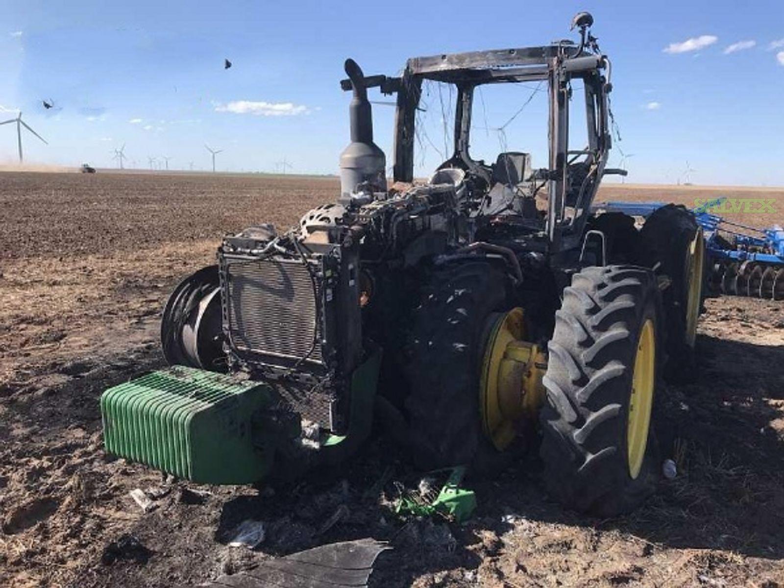 John Deere 8230R Tractor - Fire Damaged
