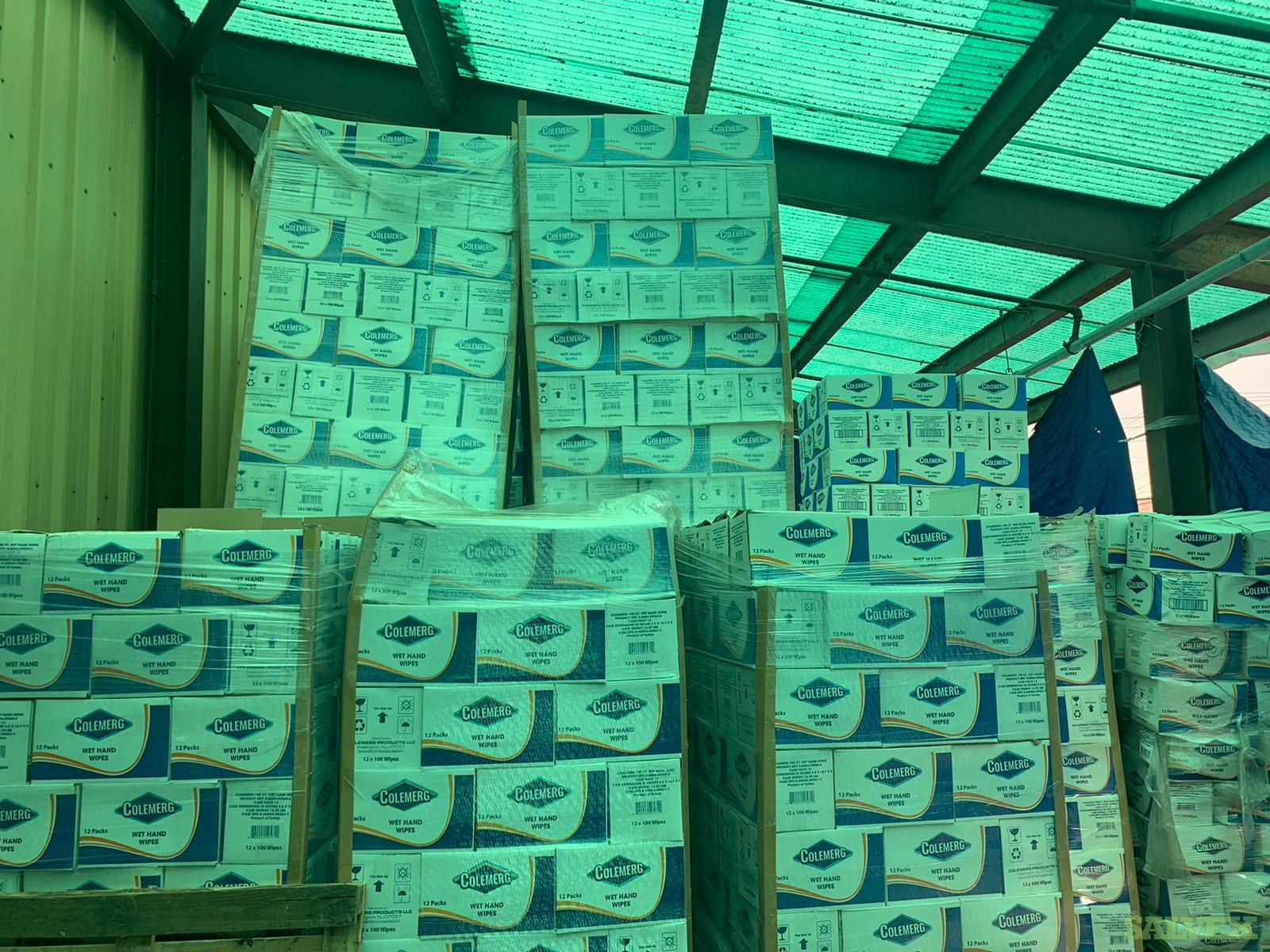 Colemerg Antibacterial Hand Sanitizing Wipes (104 Boxes per Pallet / 28 Pallets) in NJ L2