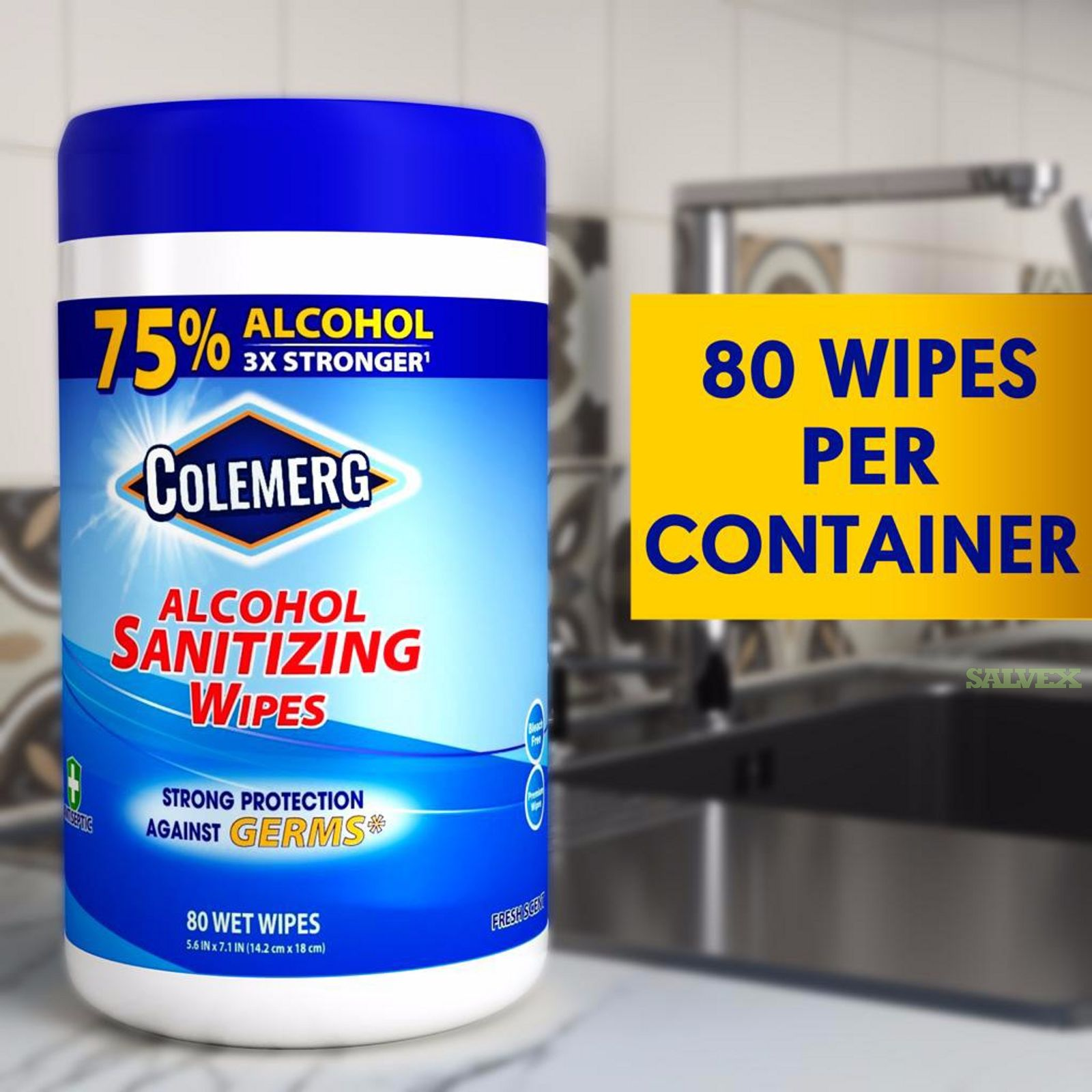 Colemerg Sanitizing Wipes  80 per Canister in NJ L2 (33,264 Units)