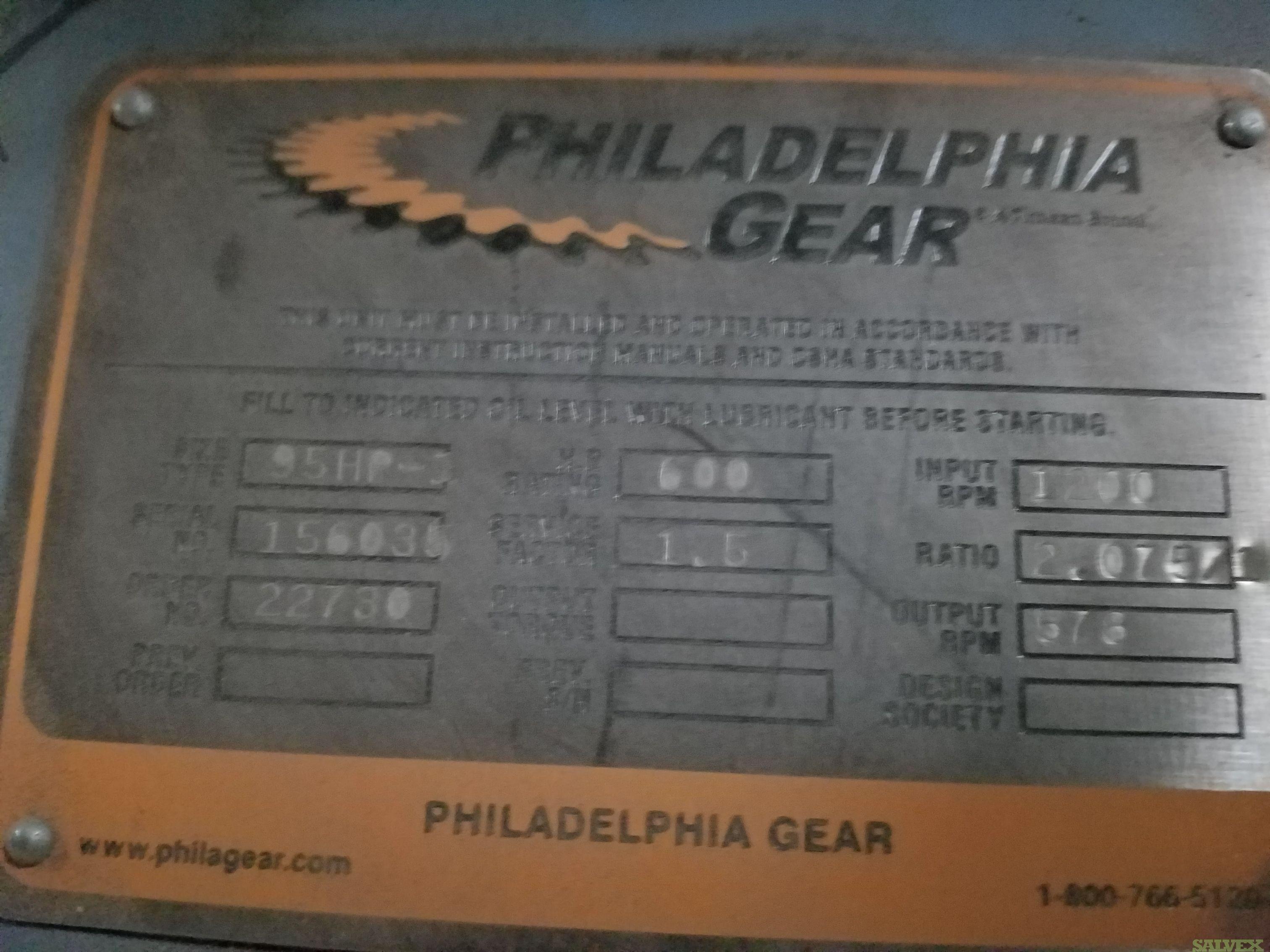 2013 Philadelphia Gear,  95 HP Gearbox