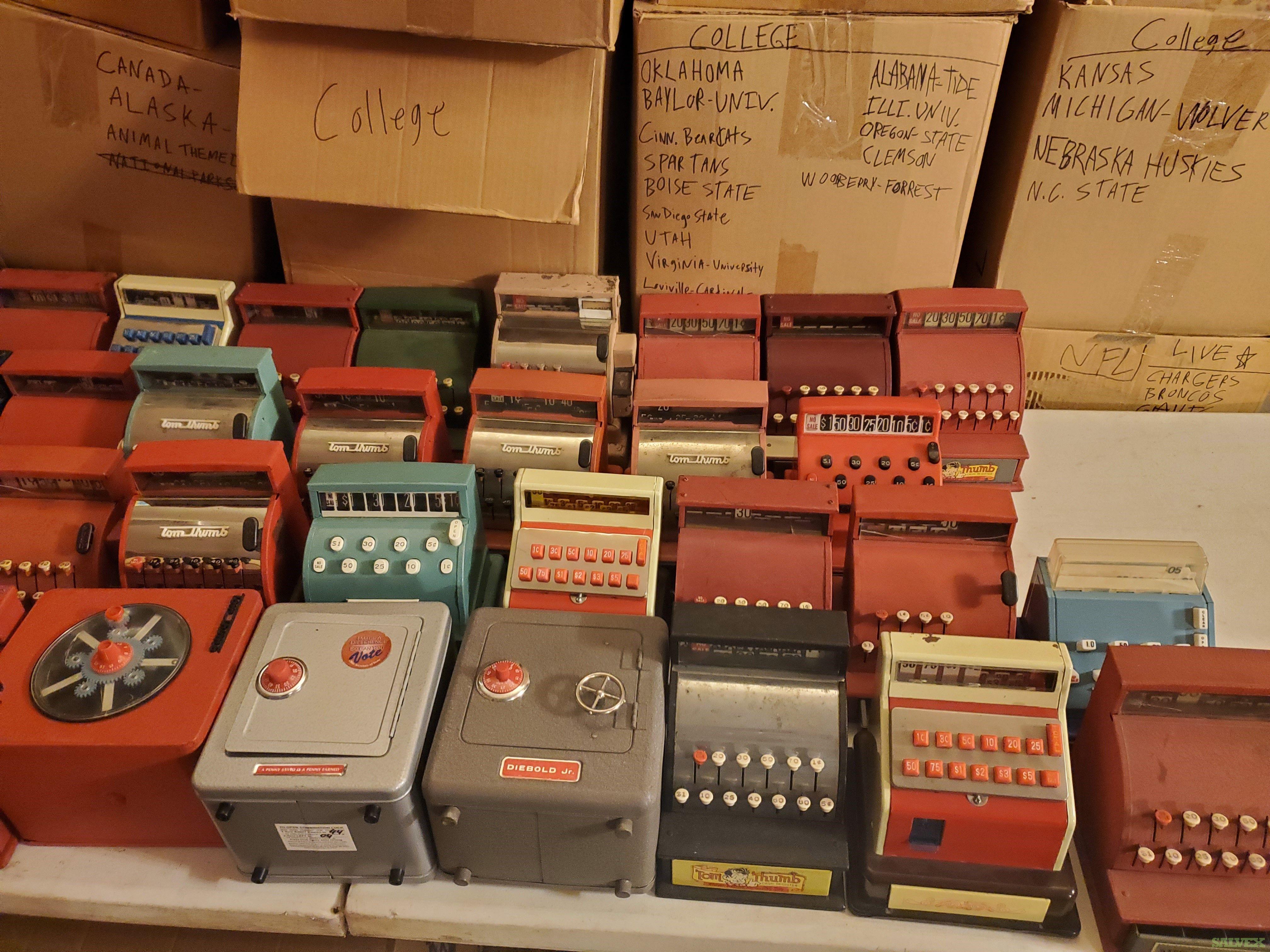 Lot of 40 Vintage Tom Thumb Toy Cash Registers