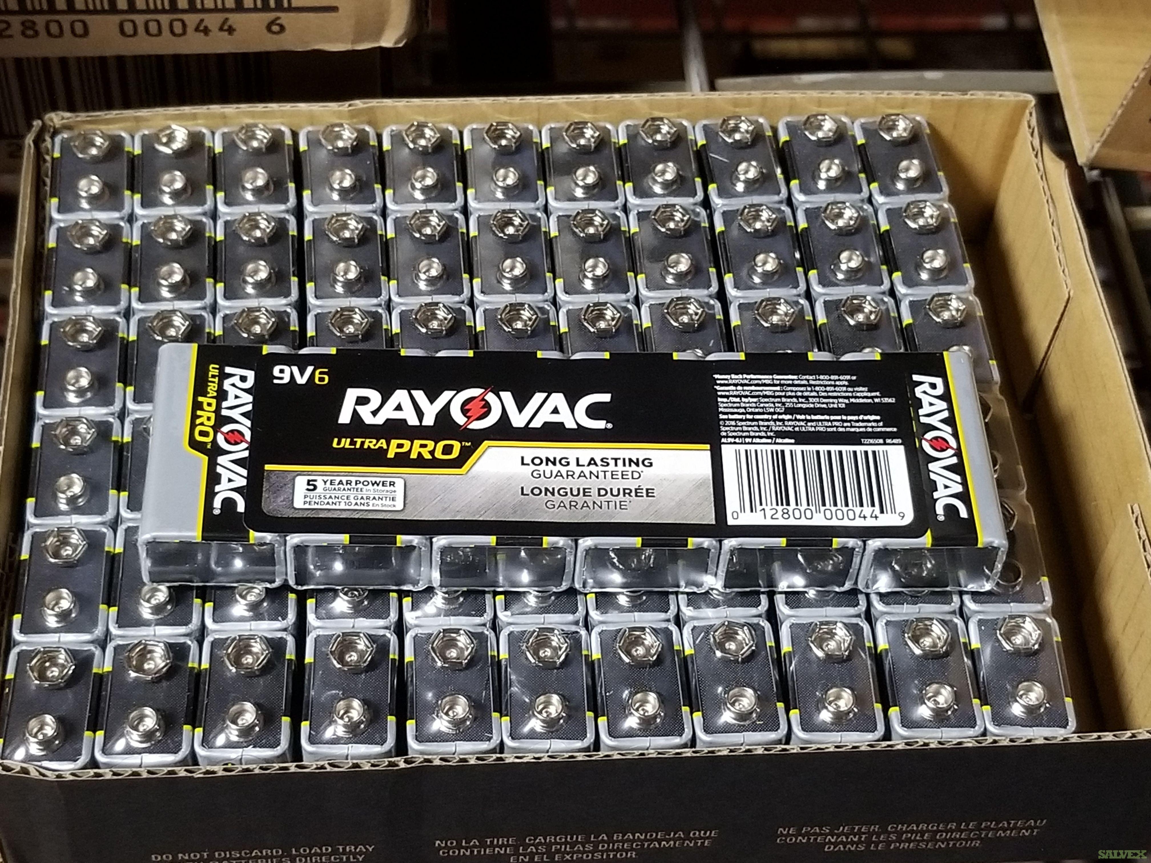 Rayovac Pro 9 Volt Alkaline Batteries (425 Packs / 2,544 Units)