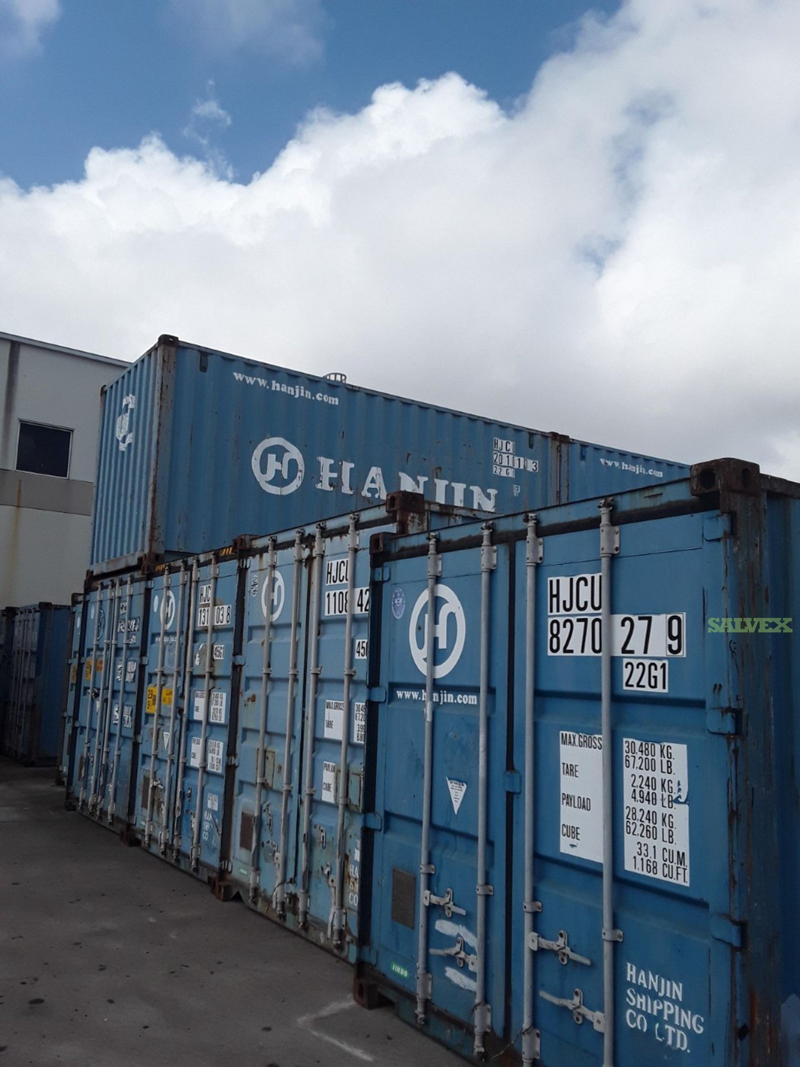 Containers 40'  ( 7 units )
