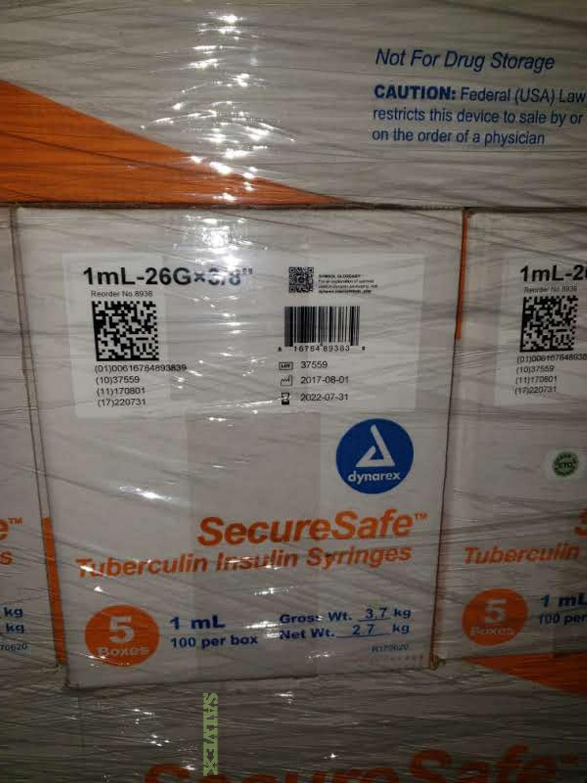 SecureSafe Tubercuiln Saftey Syringe (770 Cases)
