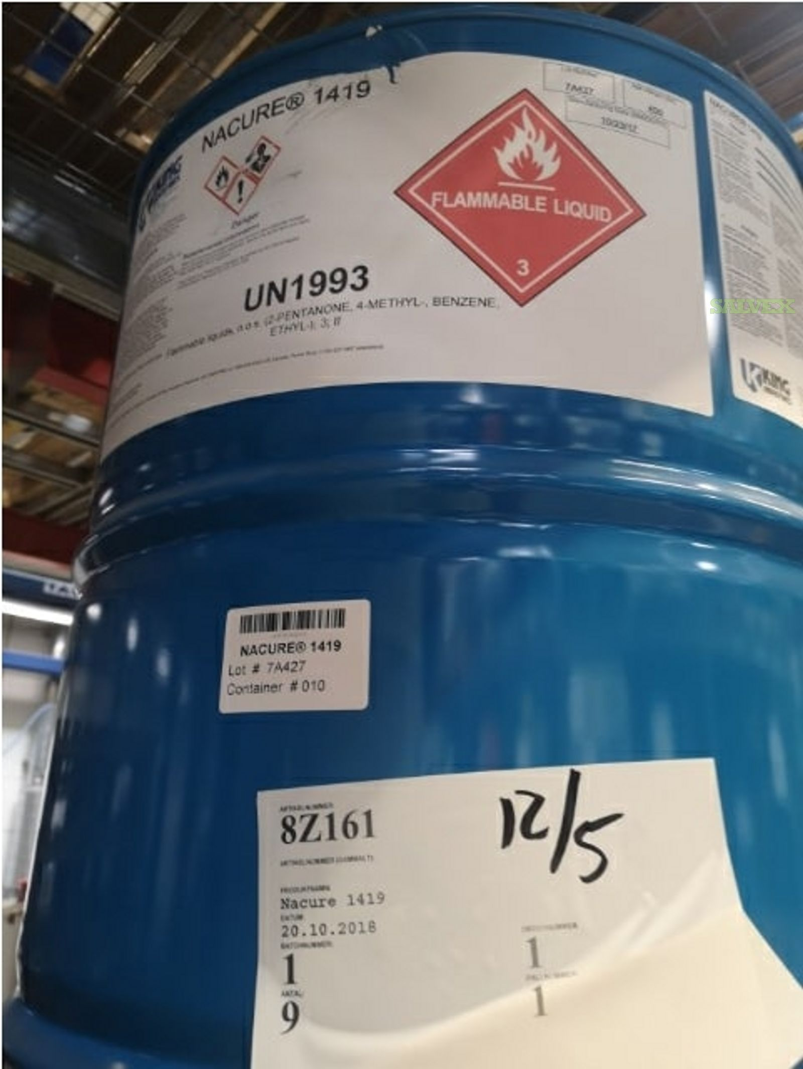Expired Chemicals: Nacure 1419 (596 Kg)