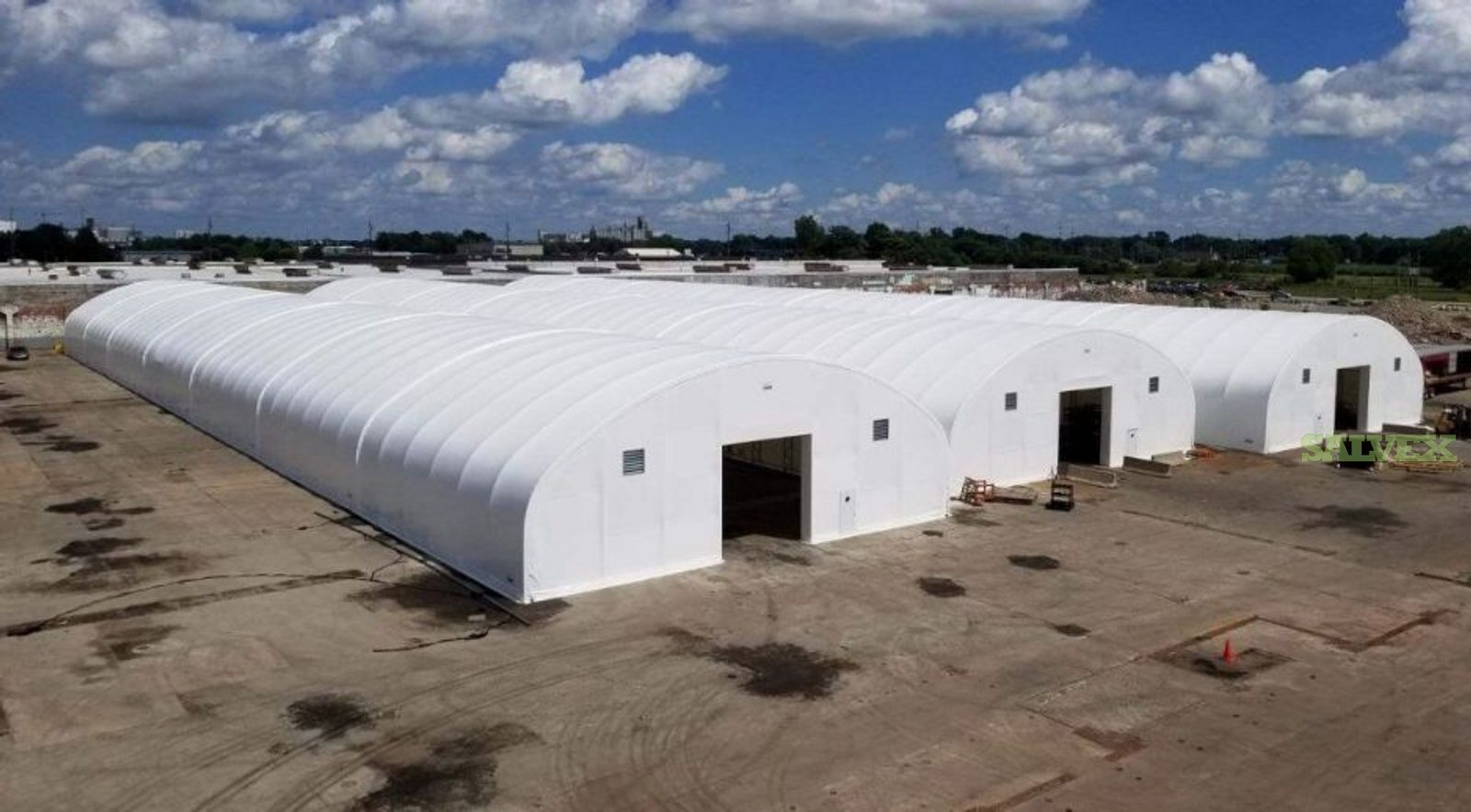 Prefab Structures - L 300Ft  X  W 100Ft  X  H 32Ft - Owner Will Sell One at a Time (3 Units)