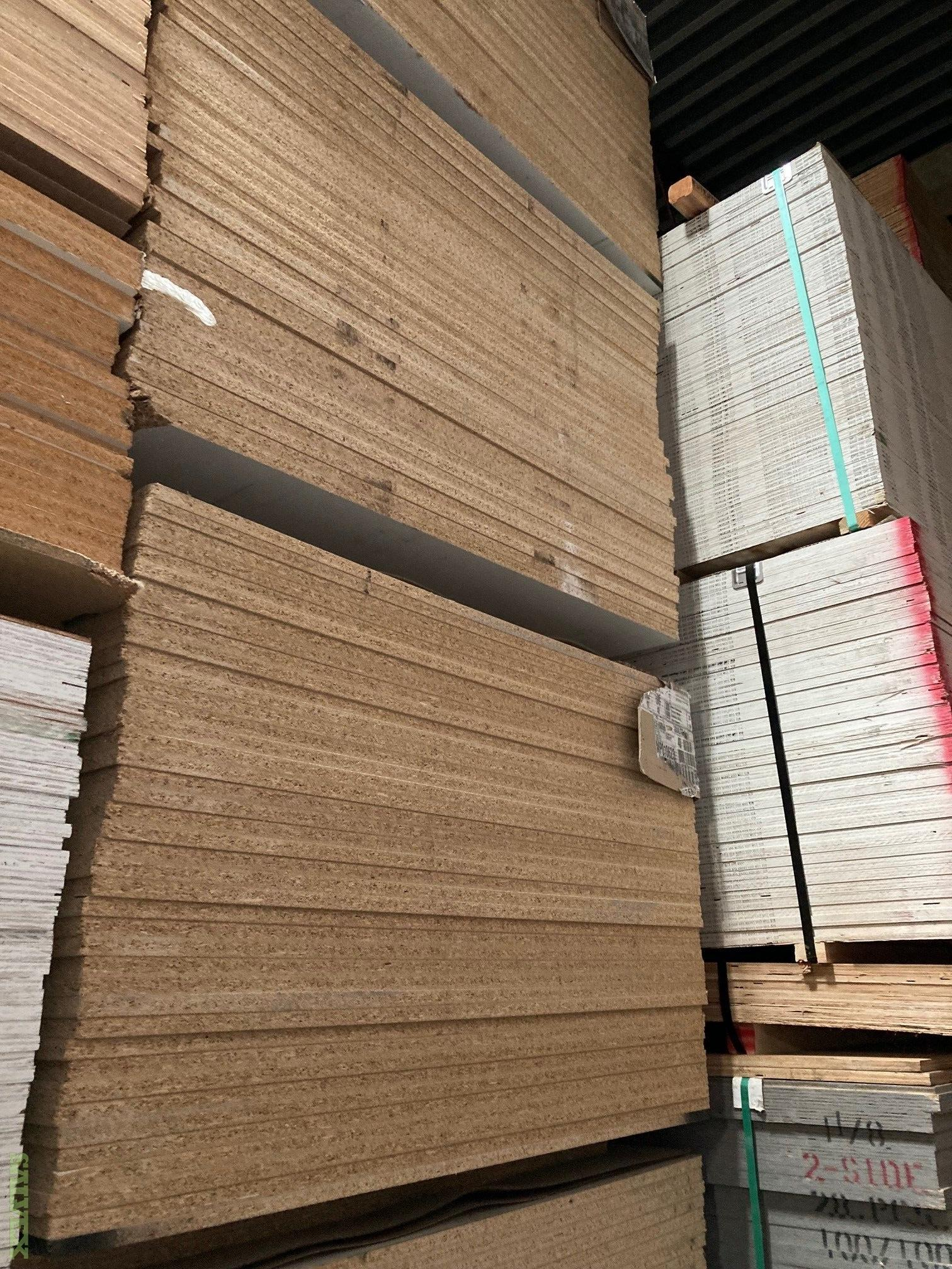 Particle Board and White Melamine Board