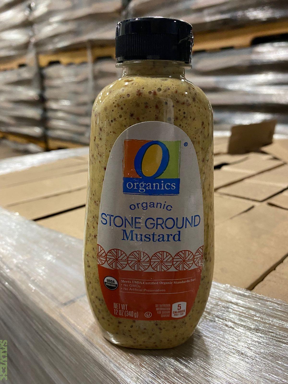 Organic Mustard (126 Boxes - 1,512 Bottles)