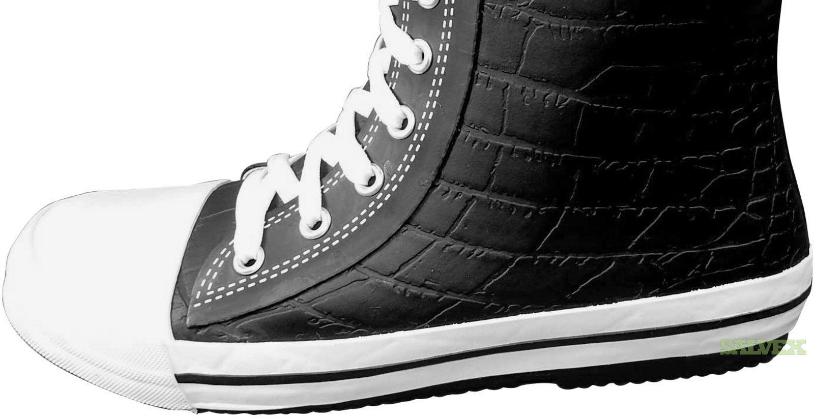 Elvetik Swiss Design Black Alligator Rubber Lace-up Boots (1000 Pairs)