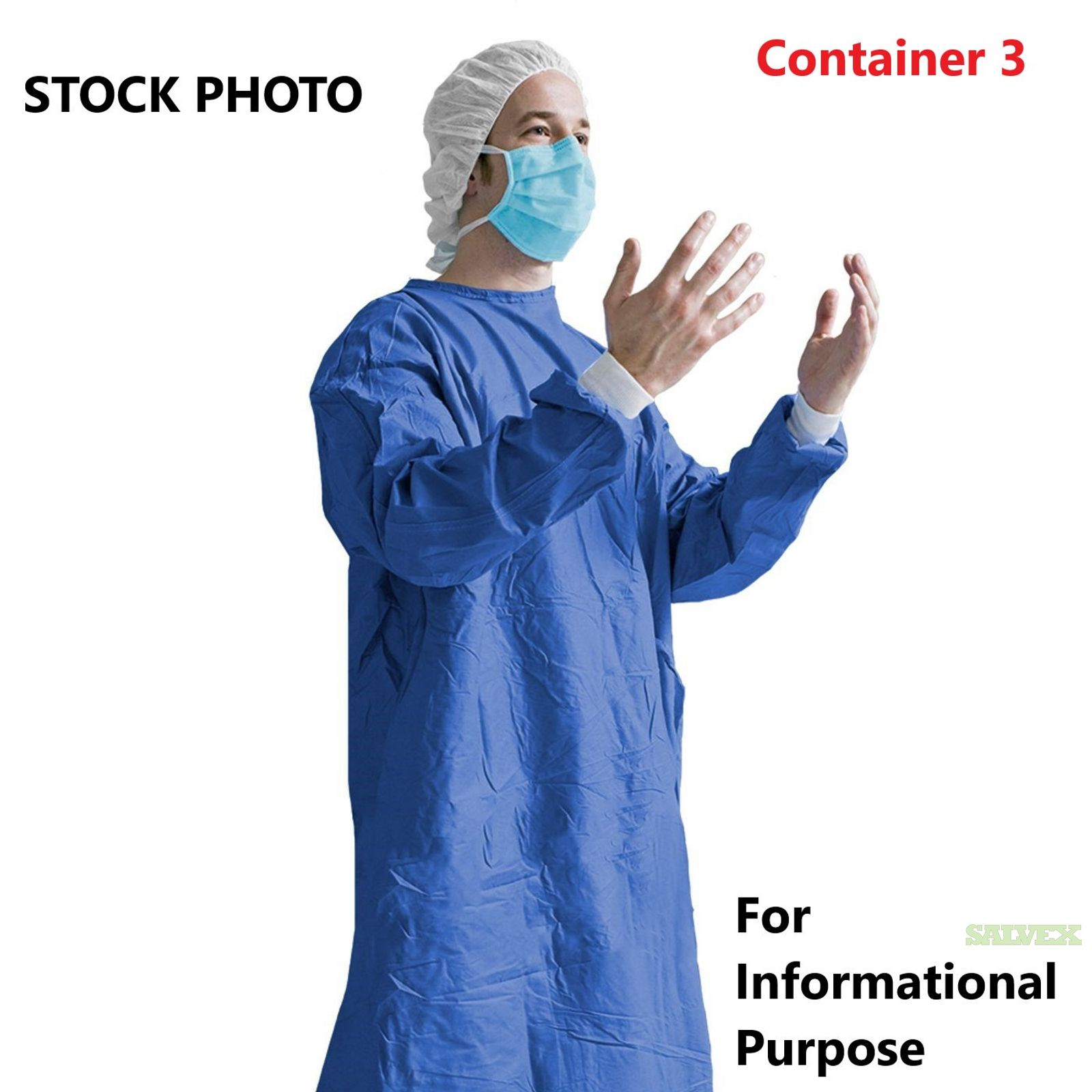 Disposable Hospital Isolation Gowns Level 2 - Container 3 of 5