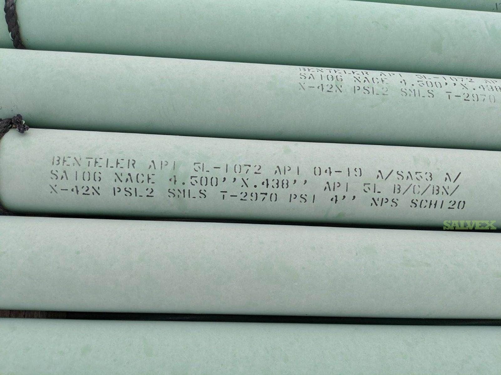 4 SCH120 X42N SMLS Surplus Line Pipe (3,500 Feet / 26 Metric Tons)