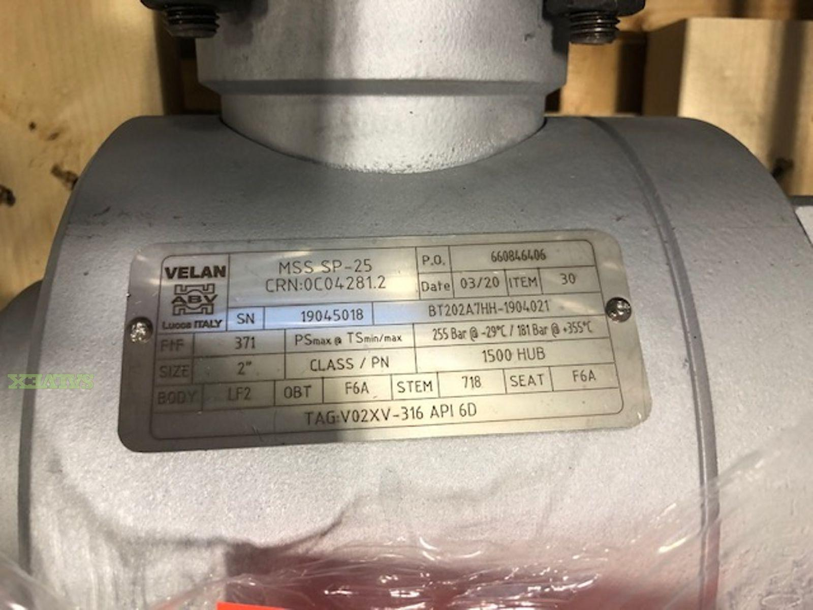 Valve Automated Quarter-Turn Pneumatic Package  & Grayloc Couplings