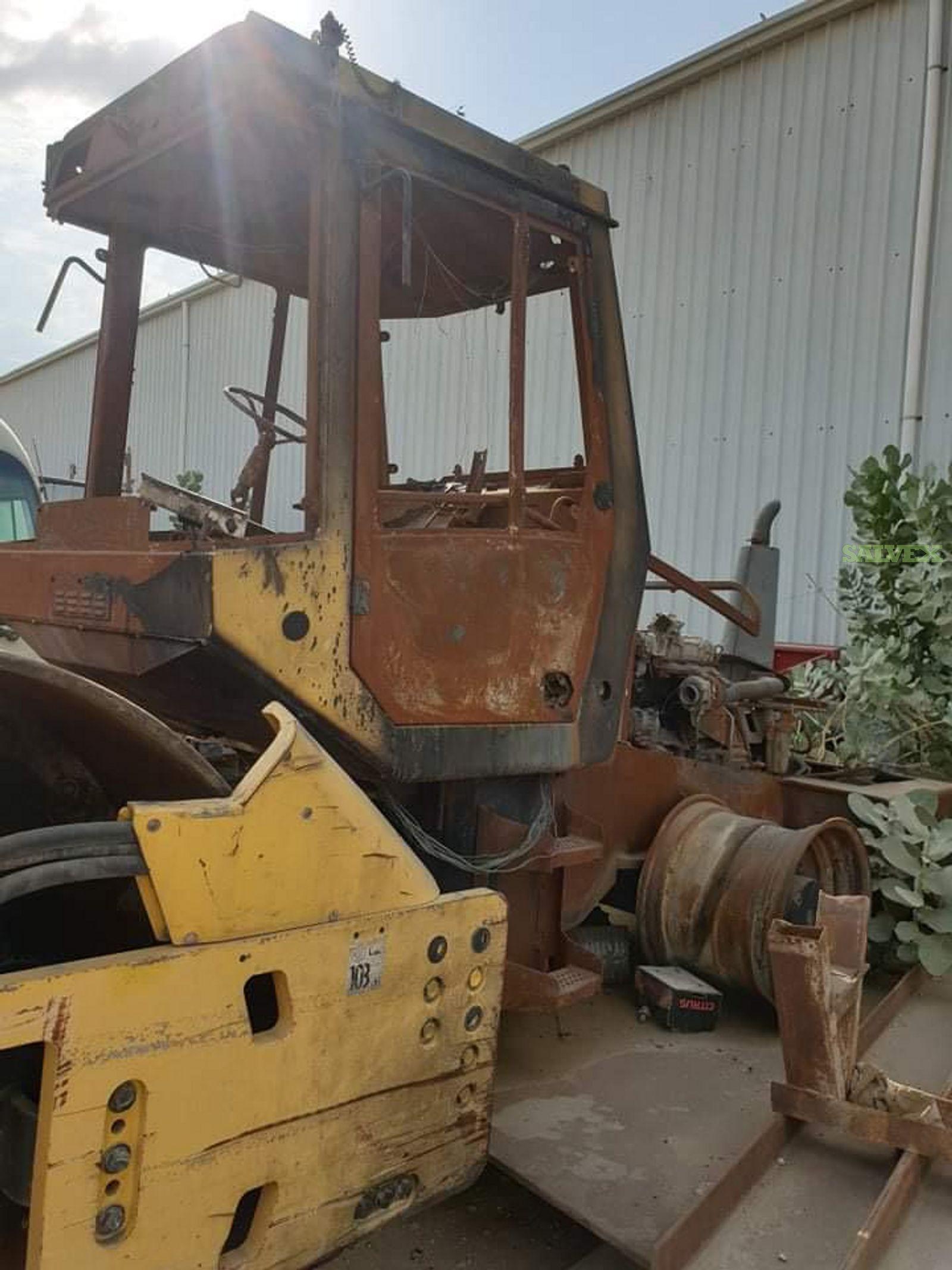 Bomag Single Drum Roller Soil Compactor, Damaged (1 Unit)