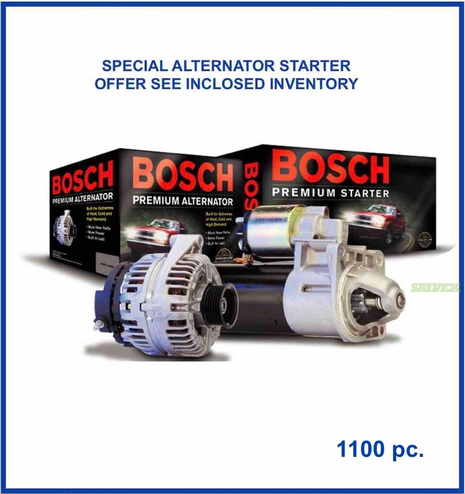 Bosch Starters and Alternators (1050 Pcs)