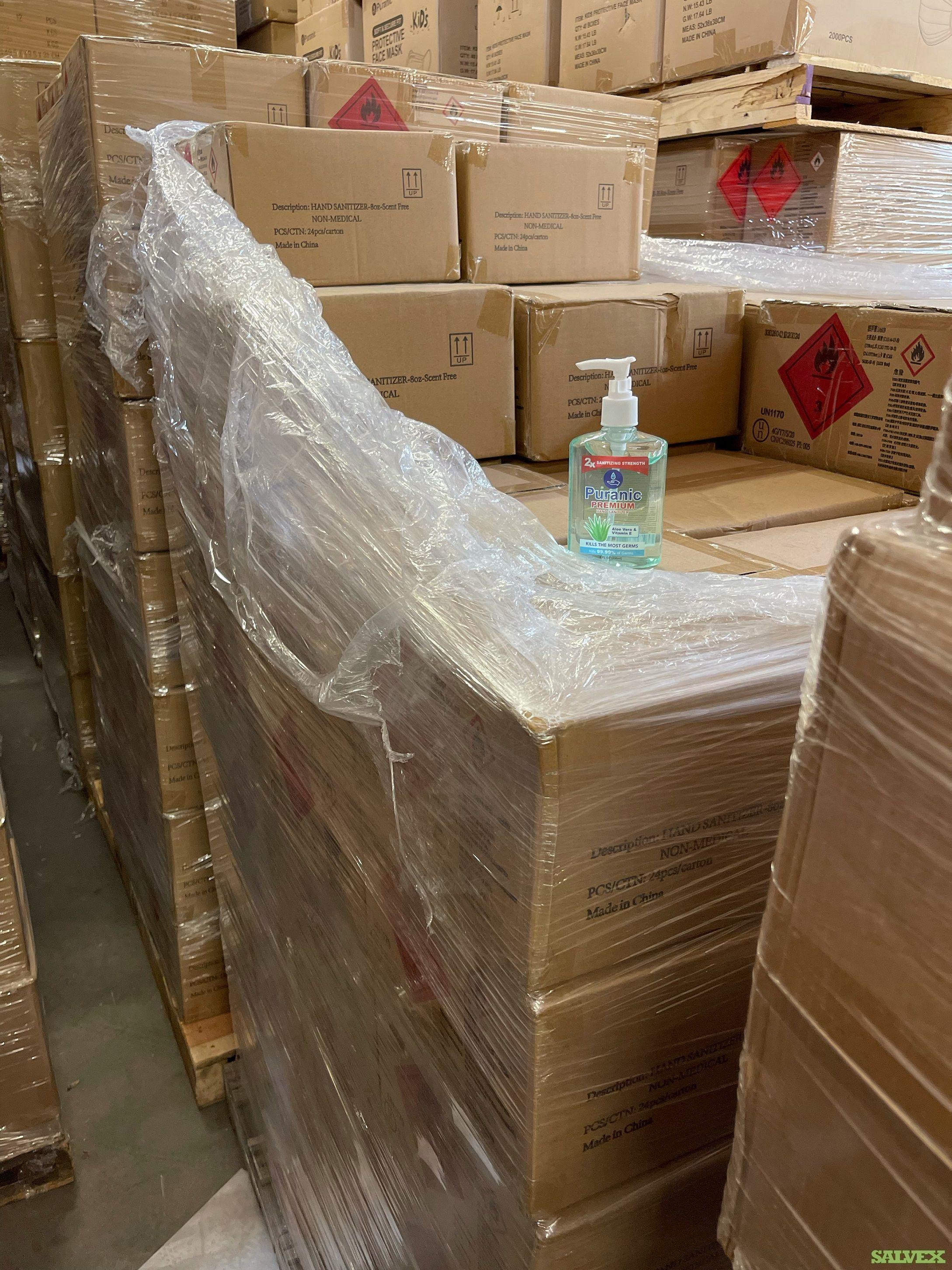Hand Sanitizers- 8 oz (4167 Cases)/35 pallets