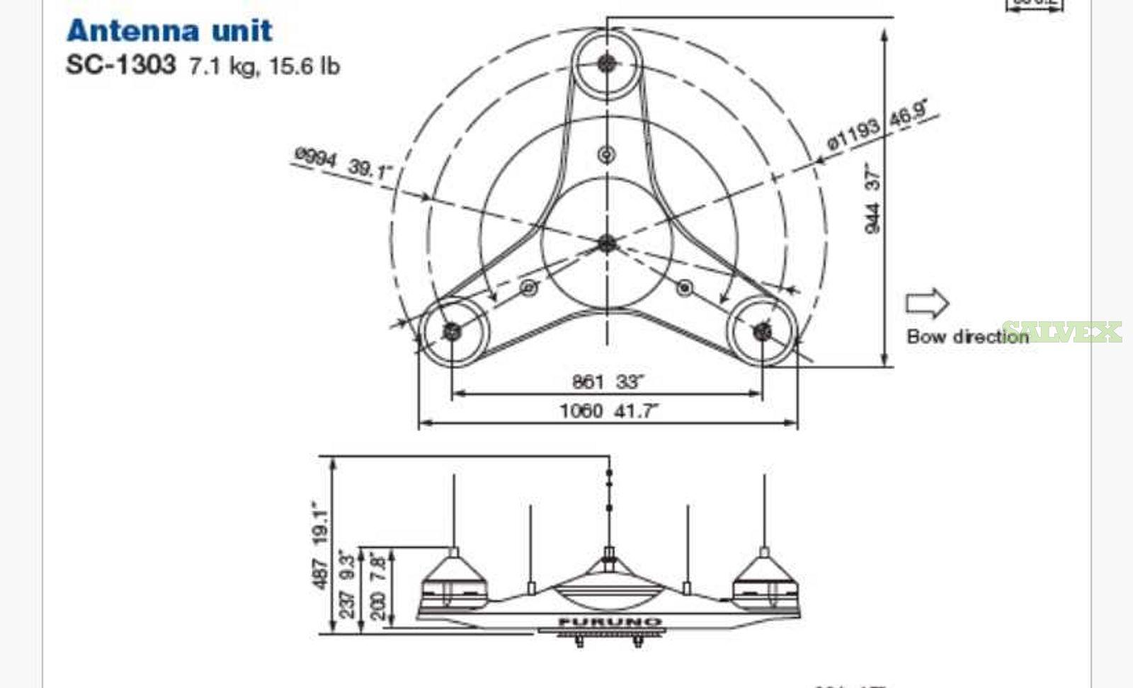 Furuno GPS Antenna (2 Units)