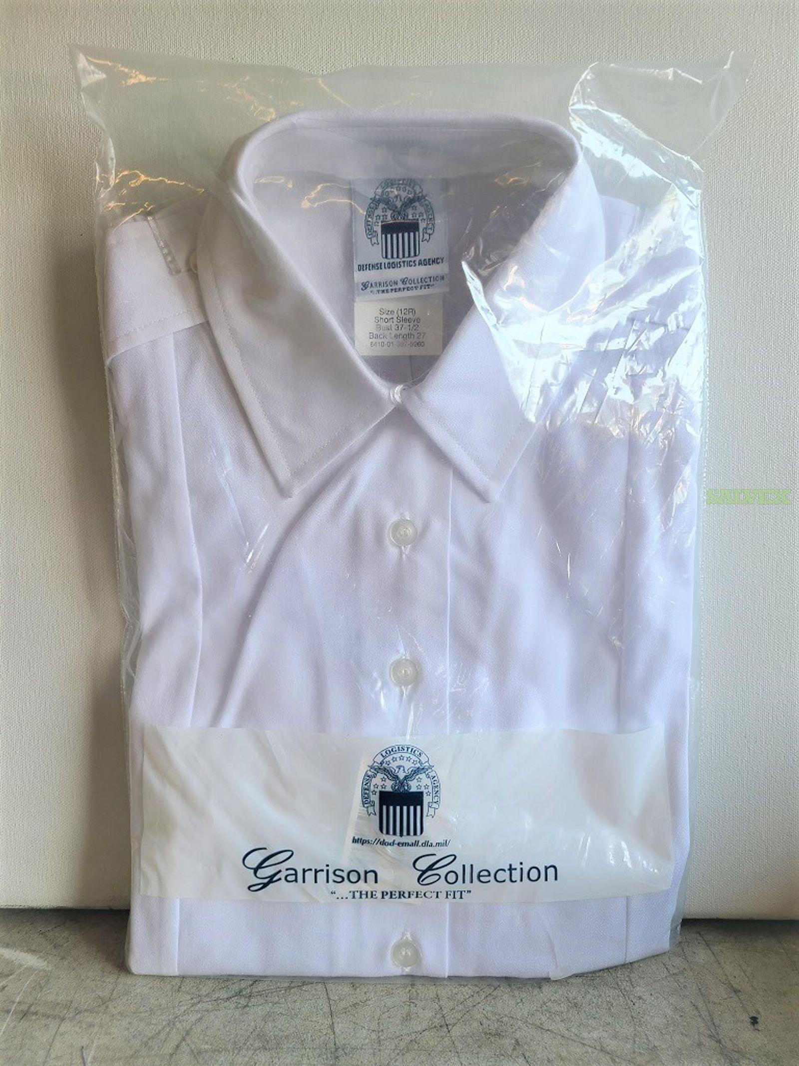 Defense Logistics Garrison Collection Short Sleeve White Women?s Dress Shirts- New (2250 Units)