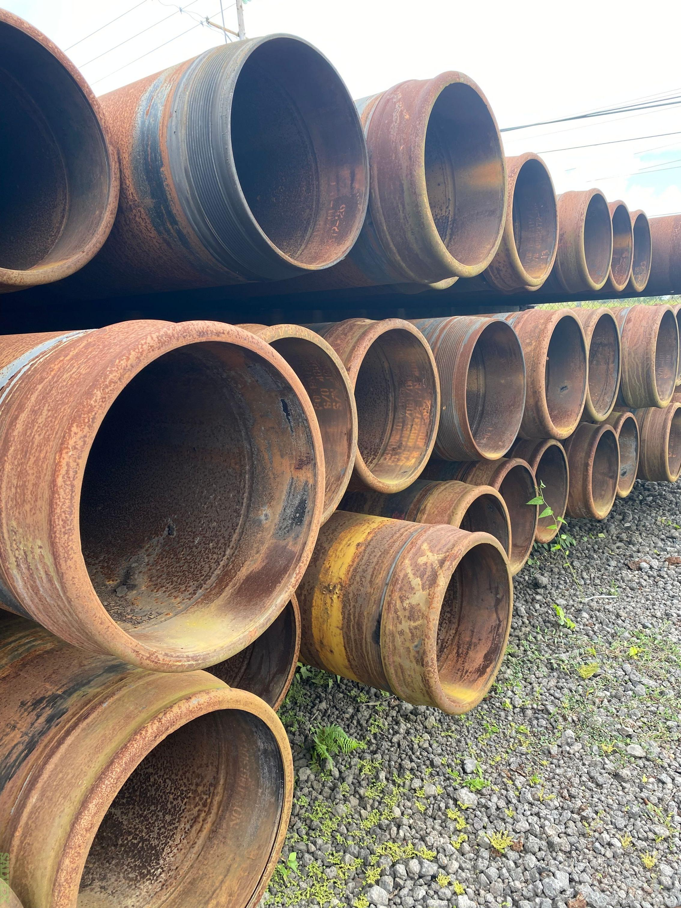 Surplus Casing different sizes from 7'' to 20''  (4,180 Feet / 219 Metric Tons)