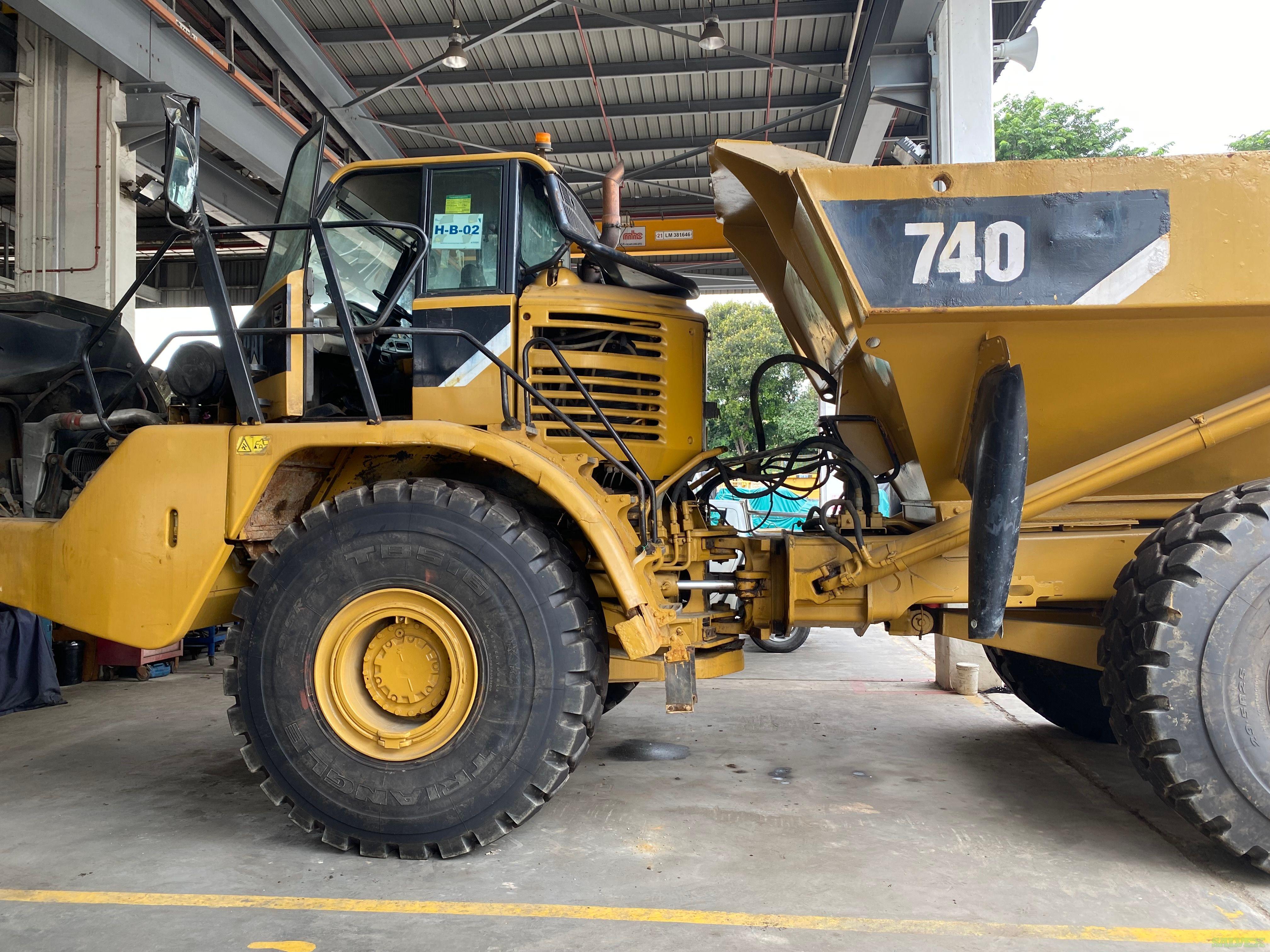 CAT 740 EJ Articulated Dump Truck 2008